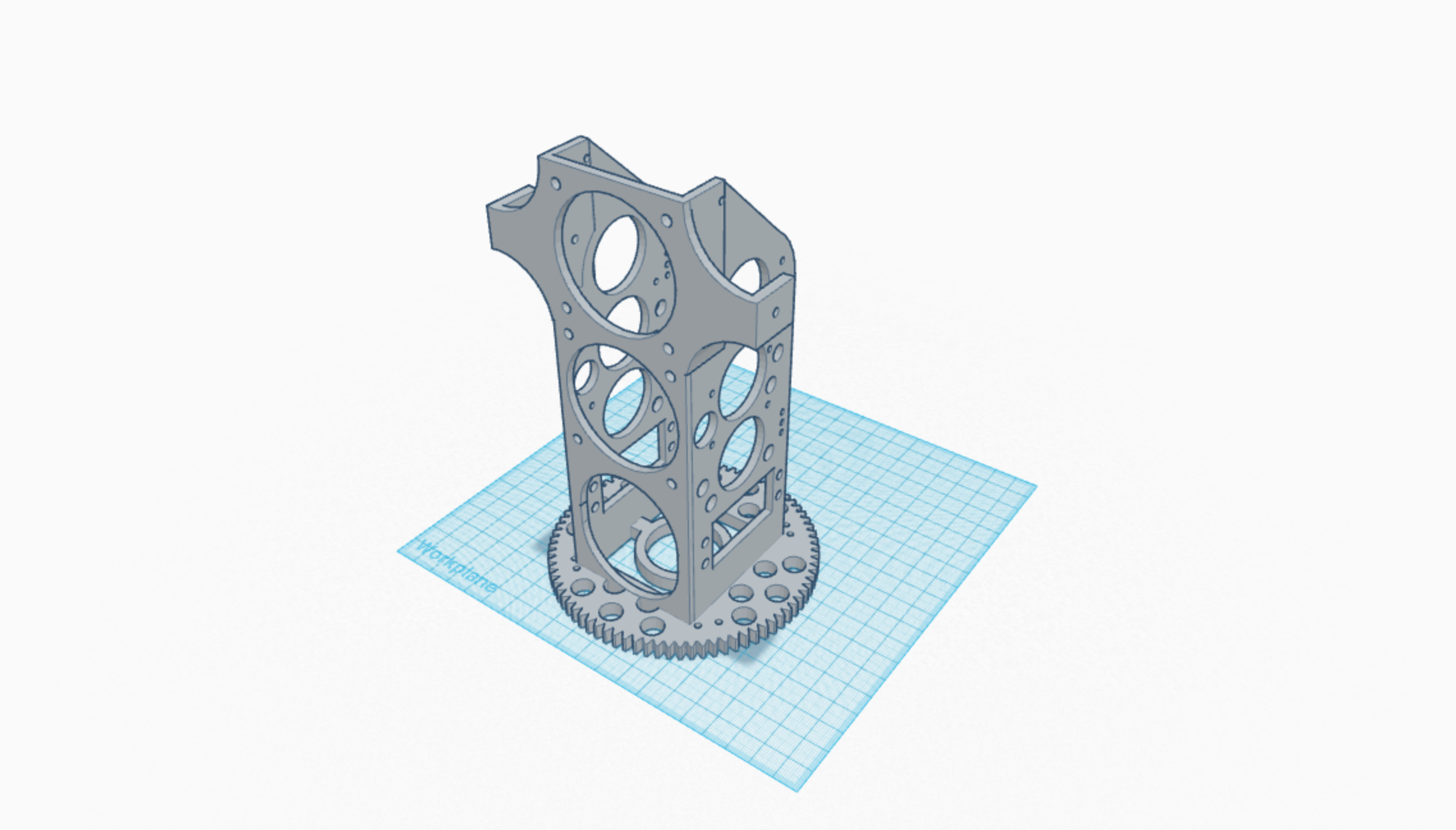 Designing 3D printed parts for AX03. This is version 7 of neck assembly.