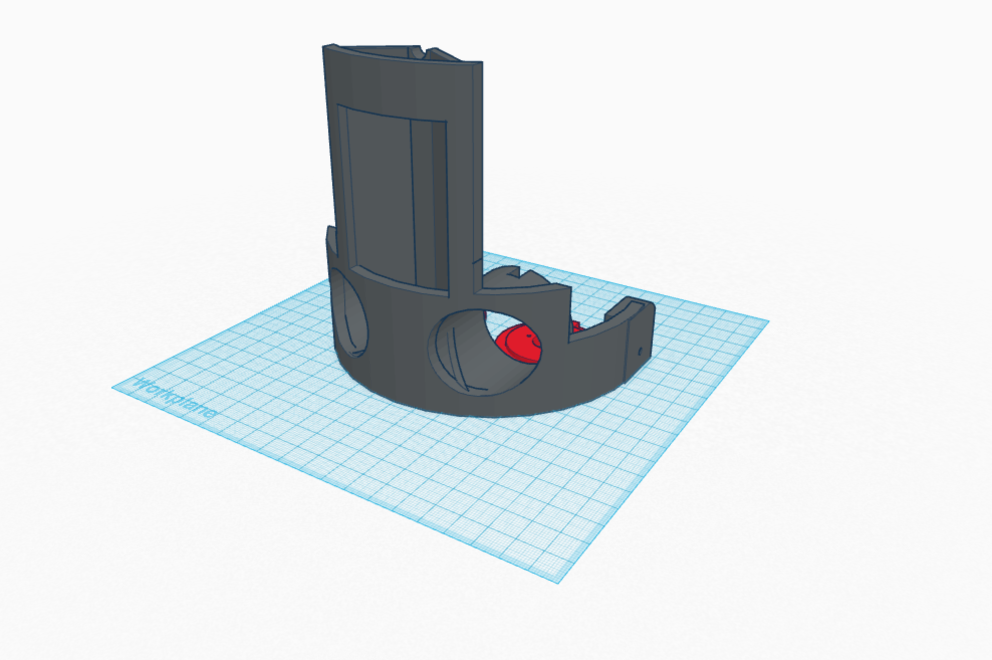 AX03 face plate for 3D printing. The trusty Star Lord mask mounts to this face plate which then mounts to the neck assembly.