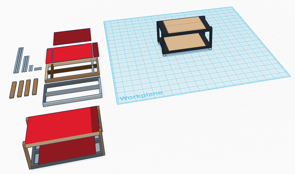 My MPCNC table's first design.
