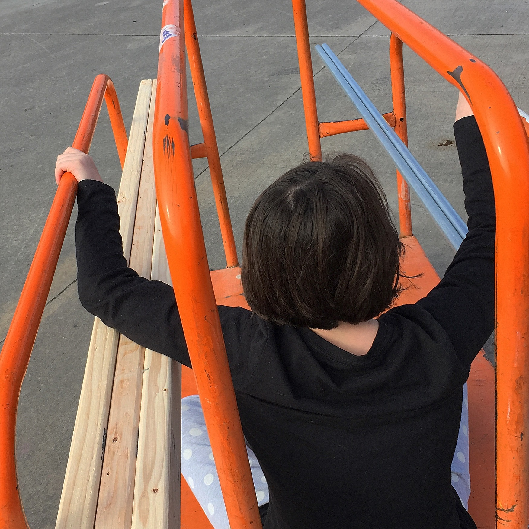 My daughter, Charlie, helping with the Home Depot run for the MPCNC and the table.