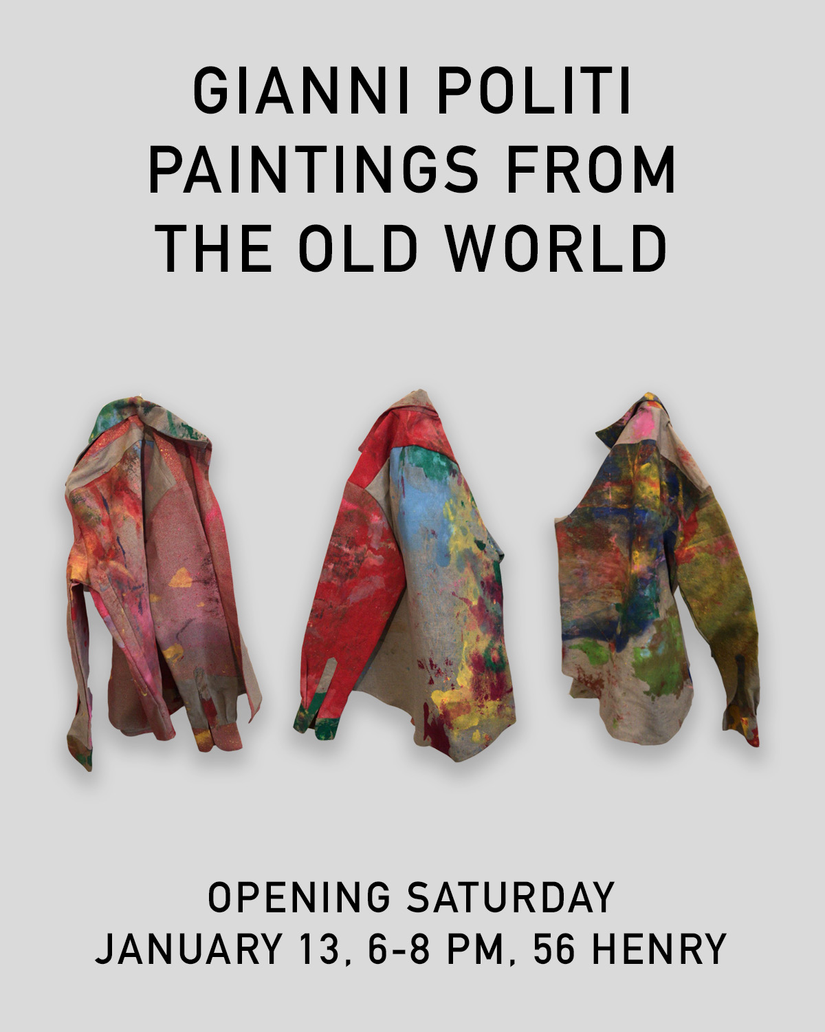 Gianni Politi - Paintings From the Old World - Exhibition Announcement