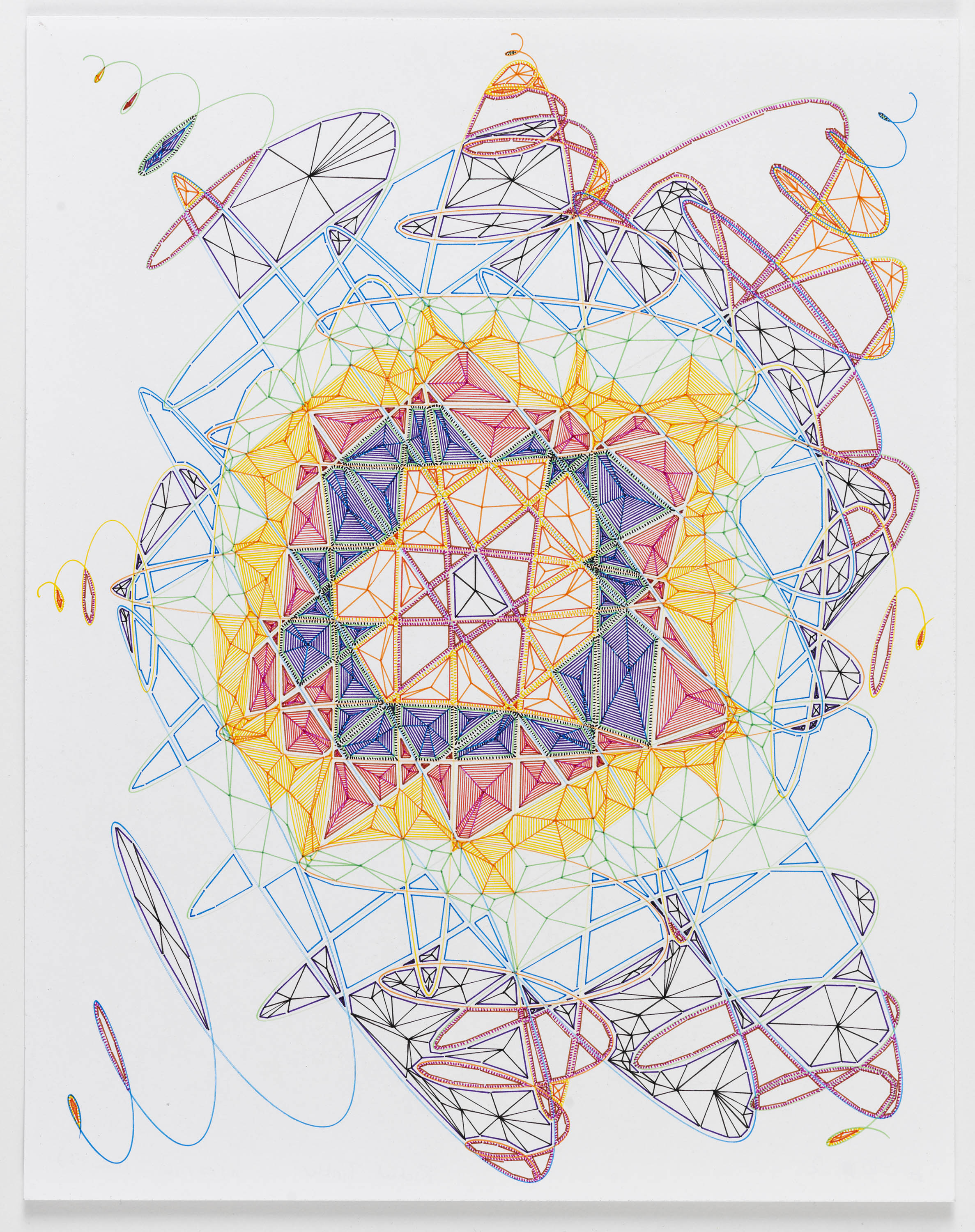 """Book 5 Volume 1 Page 40.2, 2016  in """"Richard Tinkler: Drawings"""" at 56 Henry."""