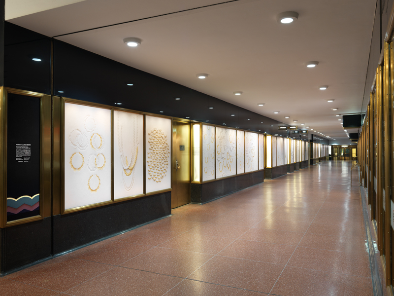 Lightbox displays in Rockefeller Center concourse. Photo by Dan Bradica.