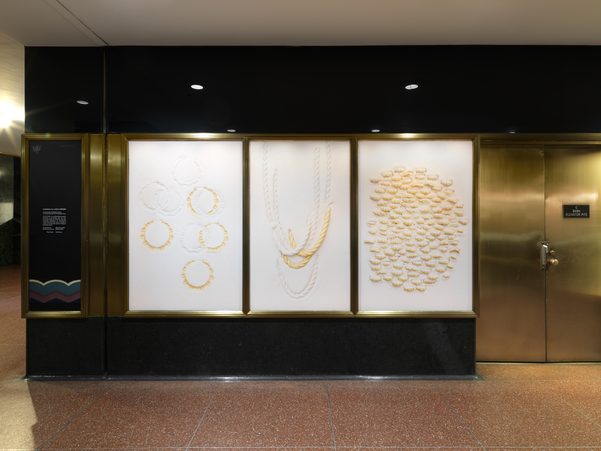 Lightbox display in concourse under 45 Rockefeller Plaza. Photo by Dan Bradica, courtesy of Art Production Fund.