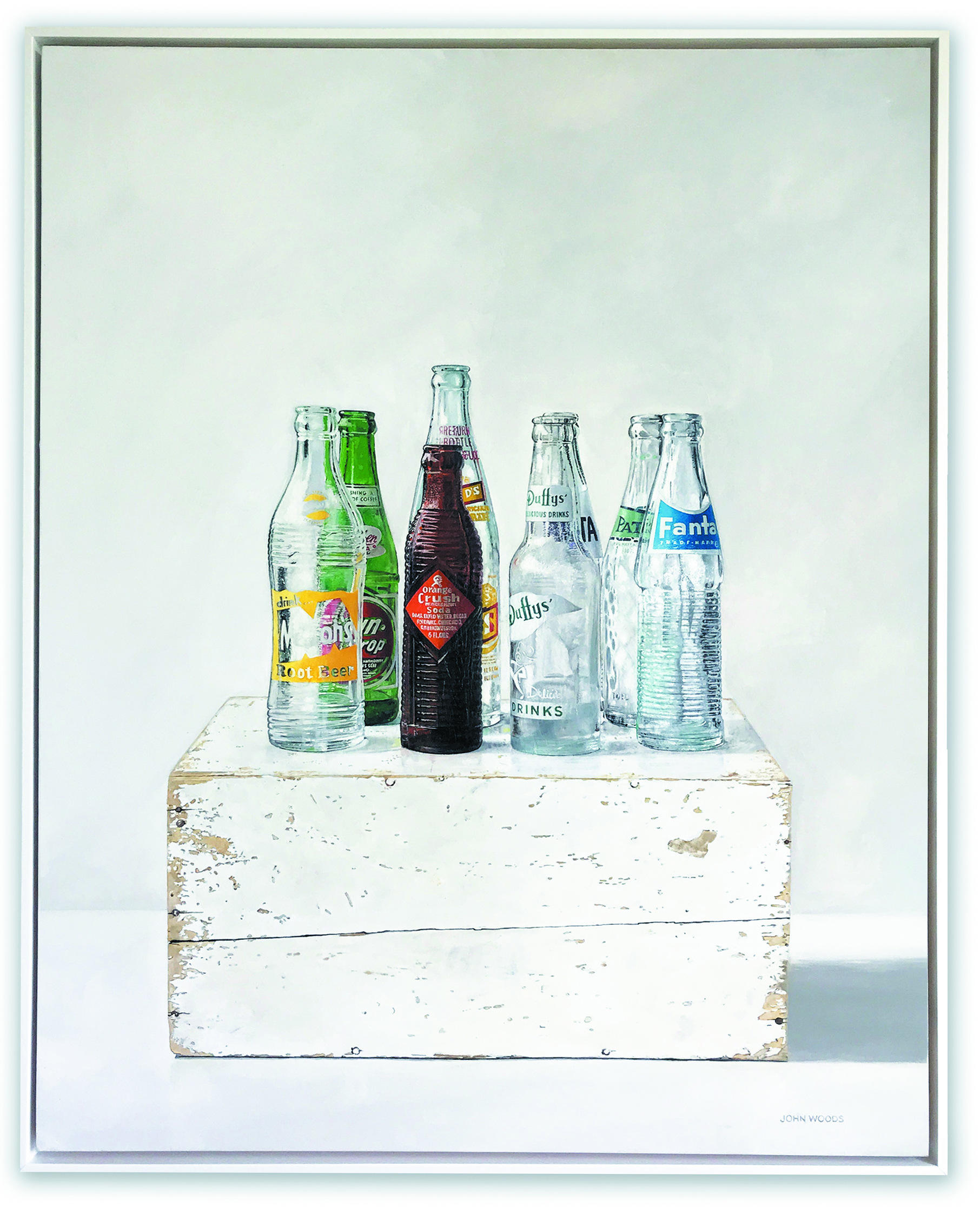 Soda Bottles - oil on panel