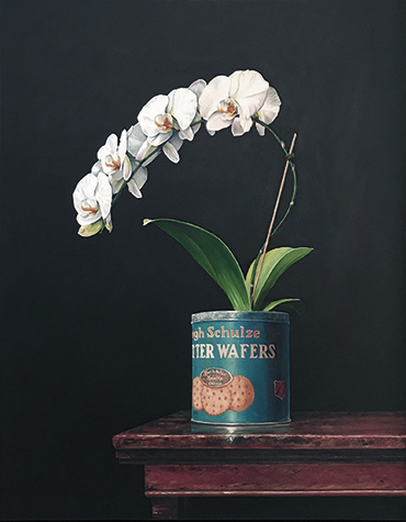 Schulze Orchid  - oil on panel