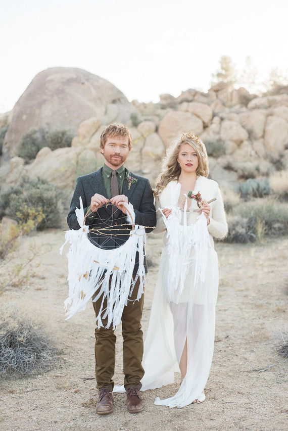 Bohemian winter desert wedding inspiration