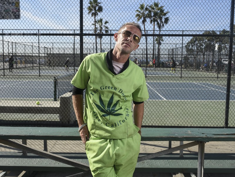 """Originally from London, John Stevens moved to the U.S. six years ago and stayed in Los Angeles for his career. He was first interested in medical marijuana when he first started smoking hash for his anxiety. """"I found out that it was helping me more than pharmaceutical medication was helping me,"""" he said. Stevens works for a Green Doctor on the Boardwalk in Venice Beach, Calif. His job is to advise patients on their medical issues and decides whether their condition is legitimate enough to recieve a medical card from the doctor. A majority of the patients come in with problems such as insomnia, anxiety, chronic pain, or epilepsy. In California, it is fairly simple to obtain a medical recommendation, Stevens said. All one needs is a valid California ID or driver's license to show proof of residence."""