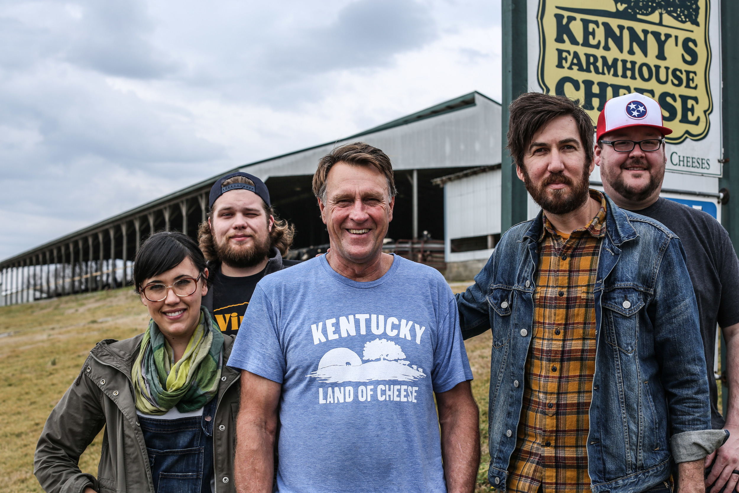 The Grilled Cheeserie Team with Kenny at Kenny's Farmhouse Cheese.