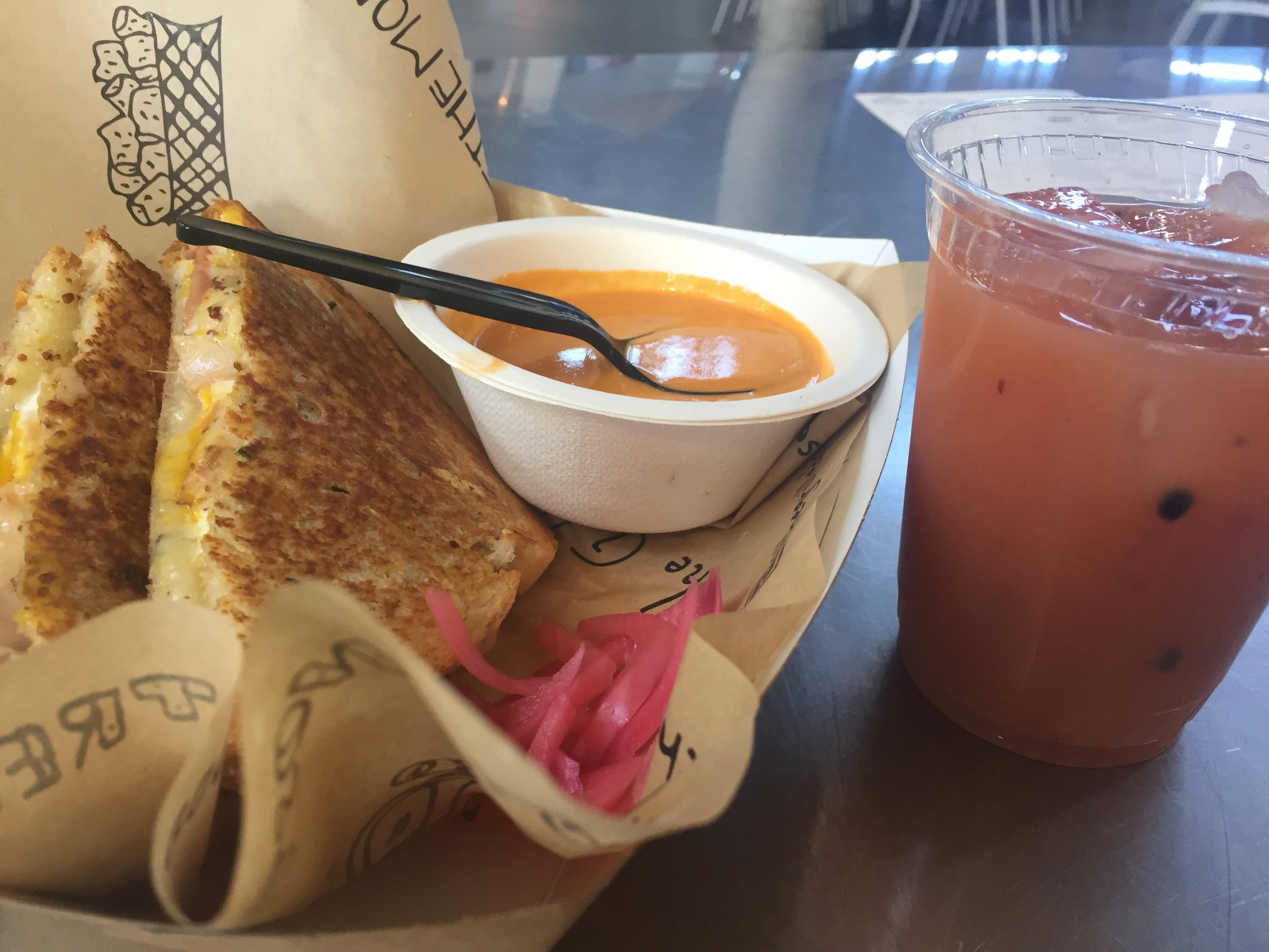 """Grilled Cheese Brunch for """"Chefs at the Market"""" in the Grow Local Kitchen"""