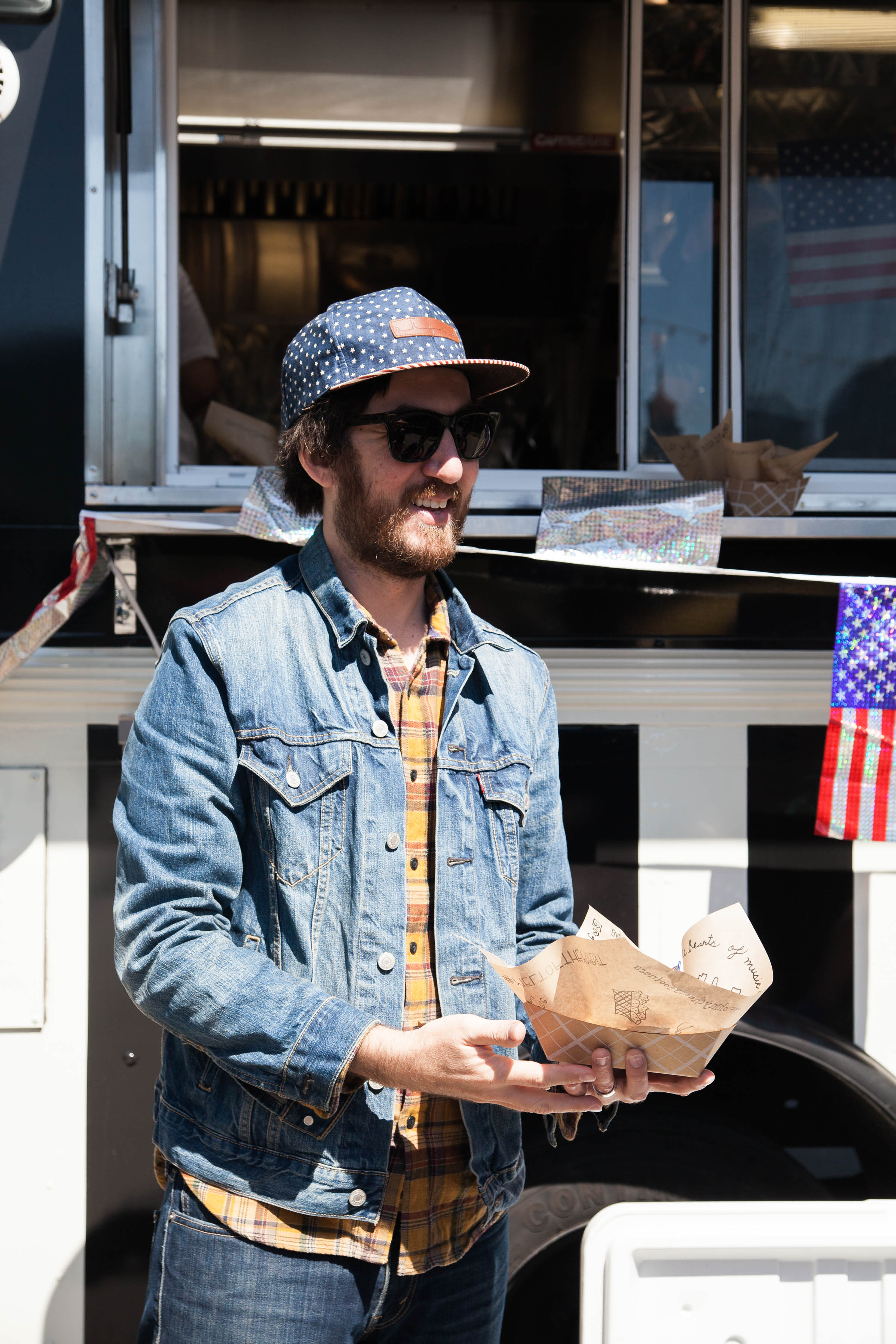 Our Co-Owner Joseph handing out free grilled cheeses