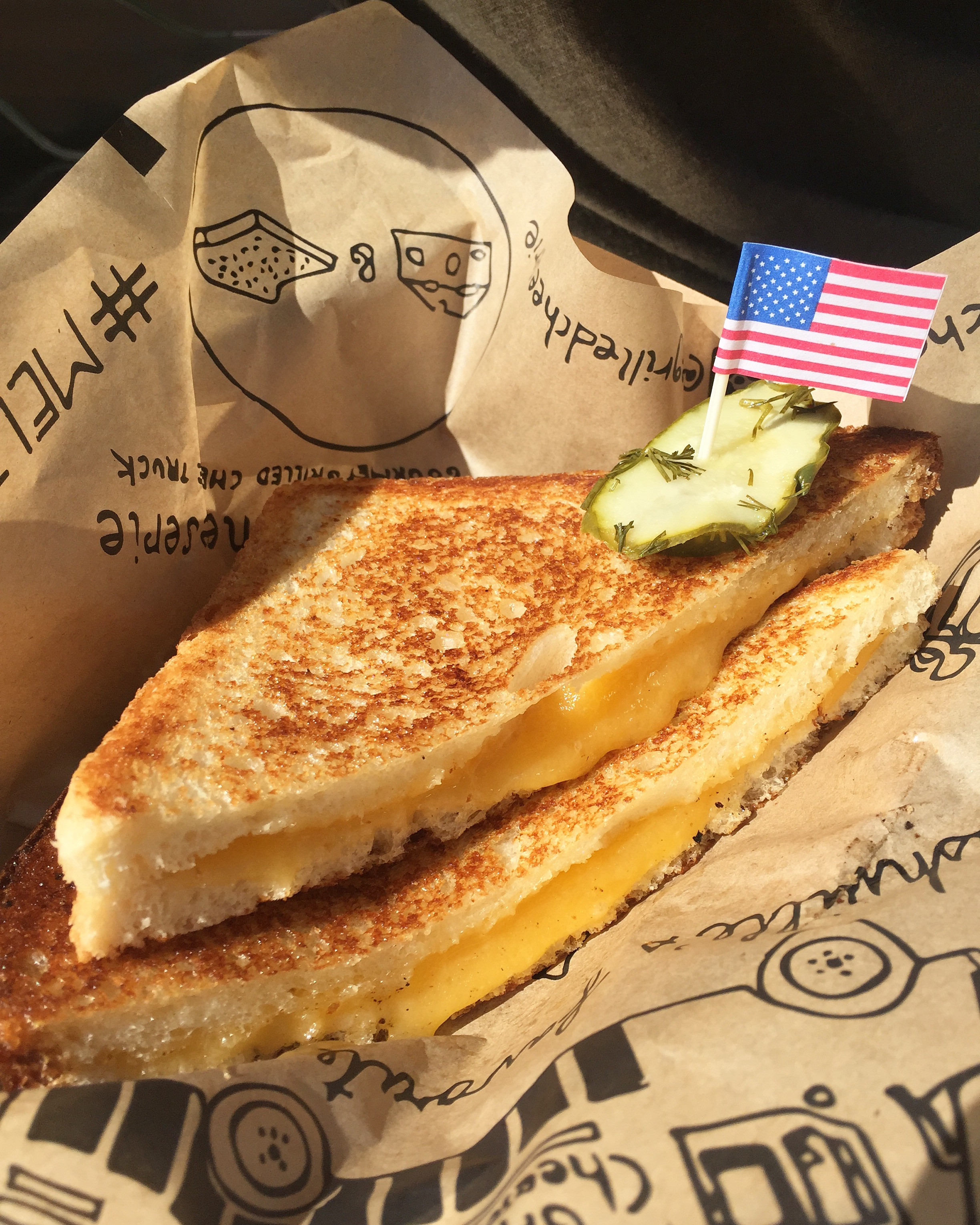 Real American Cheese on Sourdough, classic.