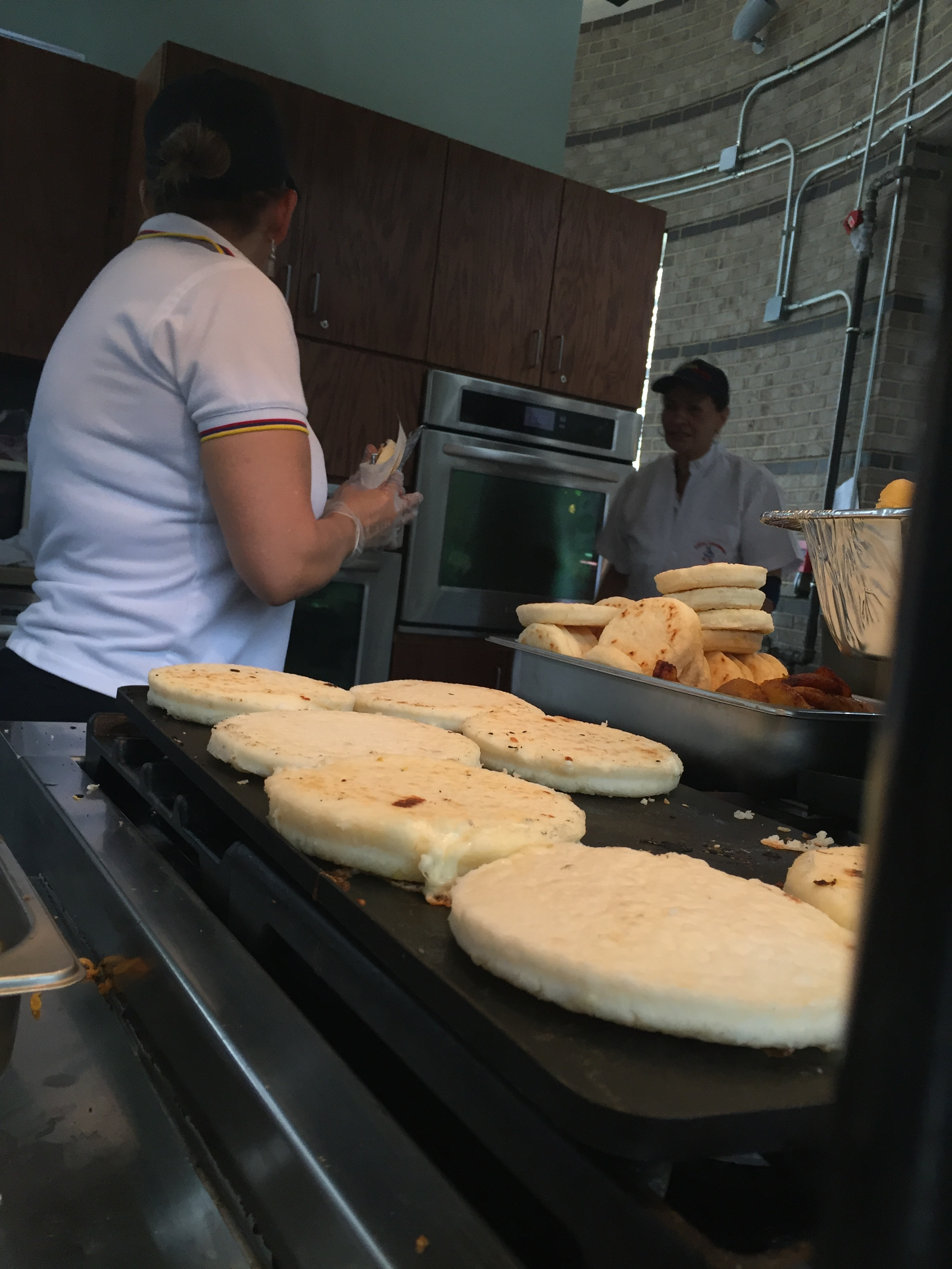 Arepas in the Grow Local Kitchen!