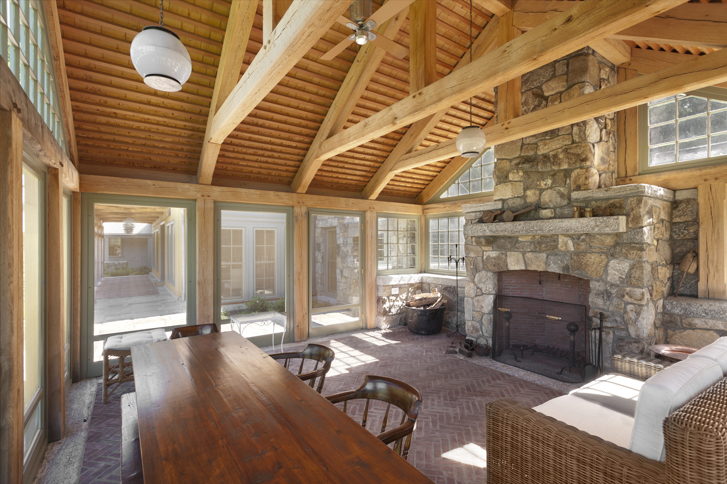 Country Compound | Field Stone Fireplace | Redding CT
