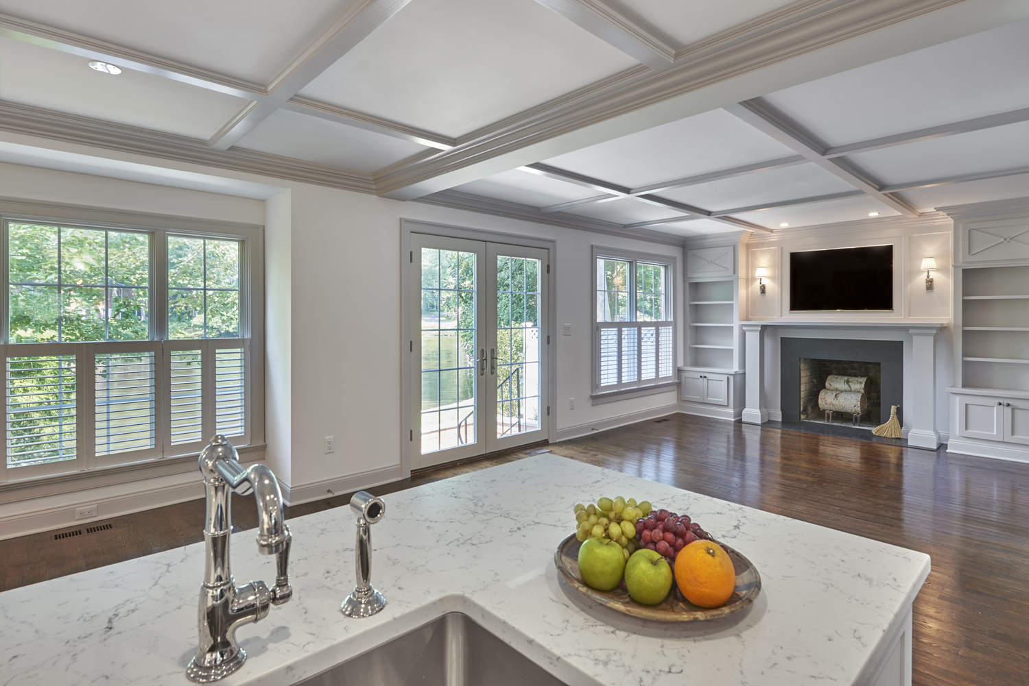 Open Concept Family Room, Greenwich, CT
