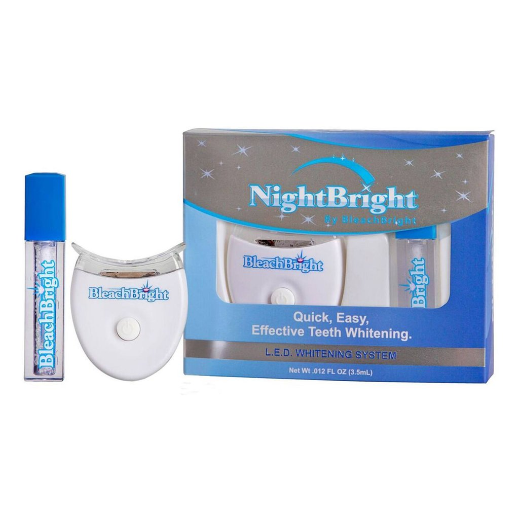 We now stock Night Bright - blue light whitening in a small and convenient at-home kit.Just like the BleachBright whitening kits used in our studio, the NightBright uses Bleach Bright's proprietary whitening gel and a blue light to whiten your teeth. Purchase yours the next time you visit the studio!