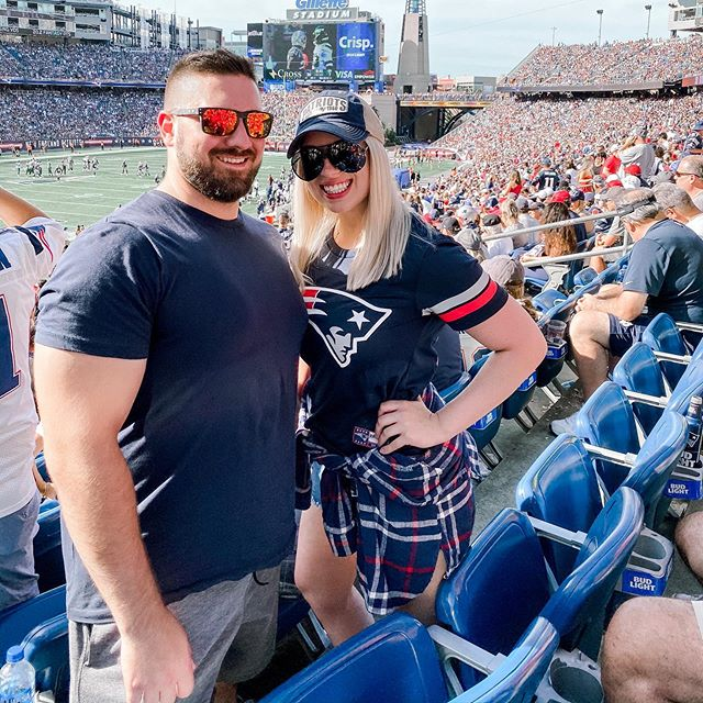 8 years later & still dragging @codybalexander to @patriots games