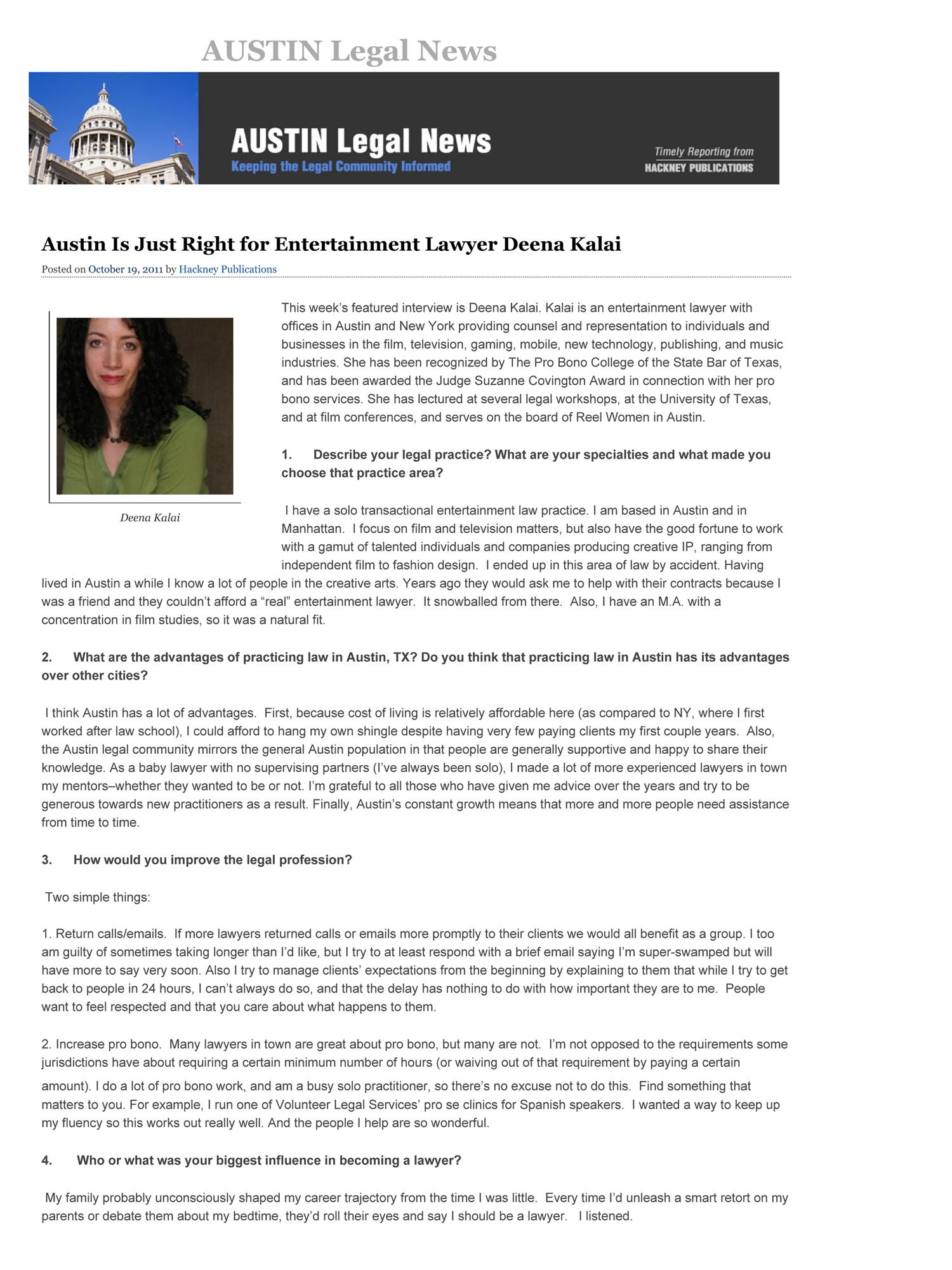 Austin Legal News