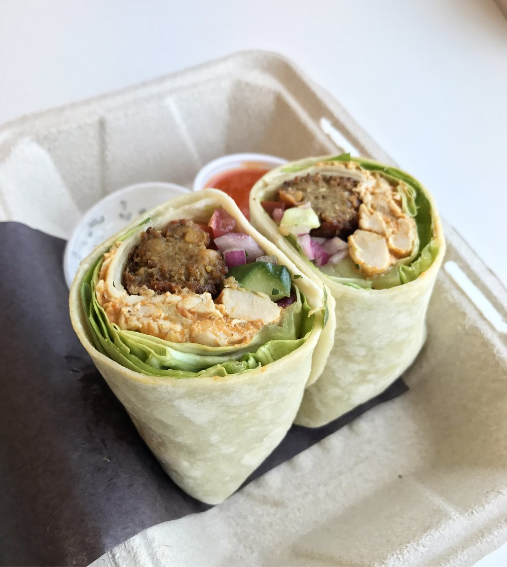 Or the Tikka Masala Chicken + Chickpea Falafel Wrap
