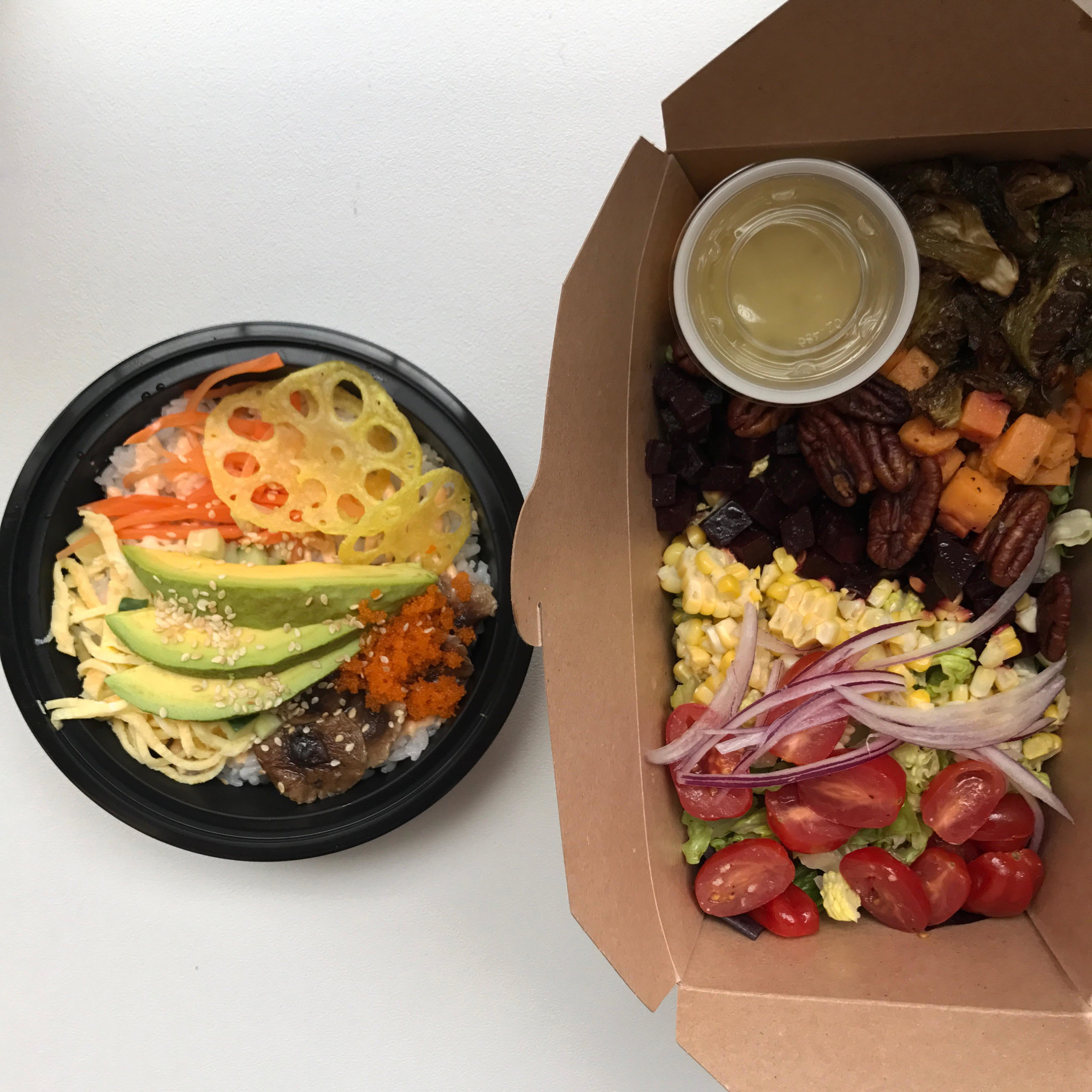 Try the Avocado Chirashi Sushi Bowl or the Rainbow Salad