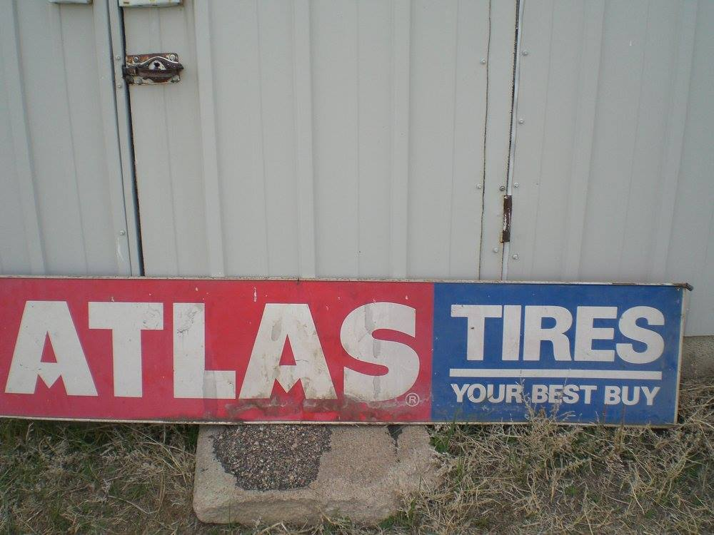 Atlas Tires Sign