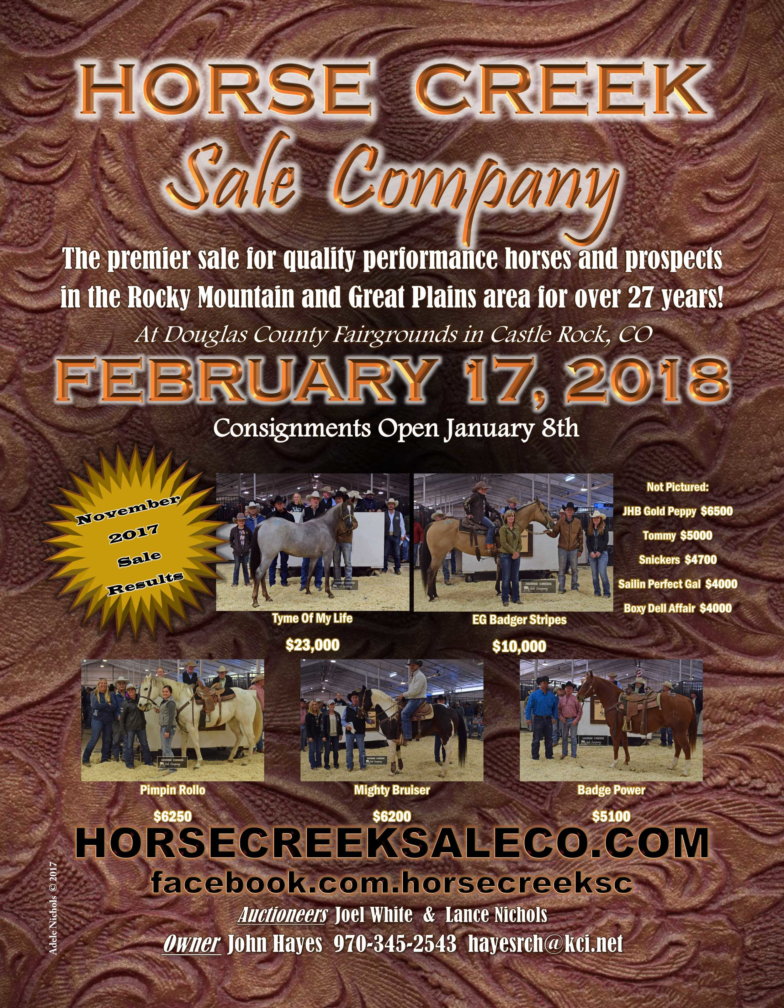 CLICK FLYER TO VIEW HORSE CREEK WEBSITE