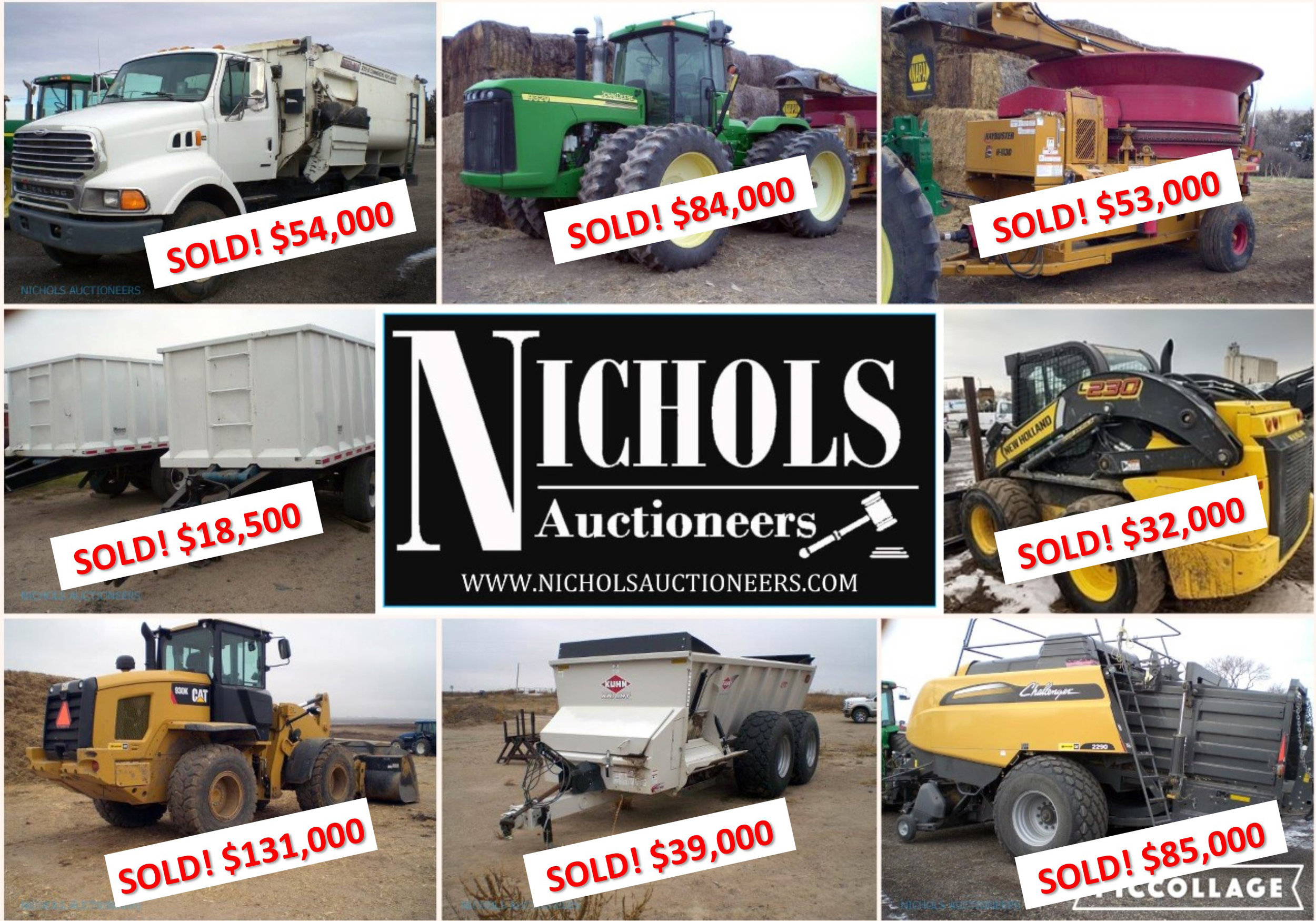 SOLD! By Nichols Auctioneers in Burlington, CO  How can we work for YOU? #AuctionsWork   Contact us today!