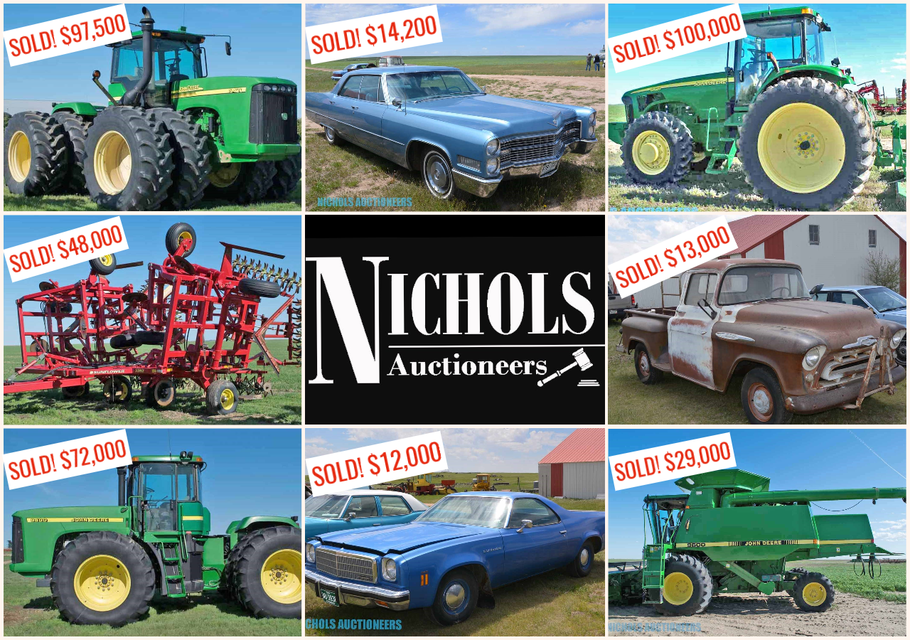 SOLD! By Nichols Auctioneers in Flagler, CO                                                                               How can we work for YOU? #AuctionsWork  Contact us today!