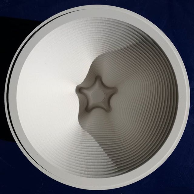 Finishing Friday with a fresh form.  #slipcastingprocess #plastermold #newdesign #lighting
