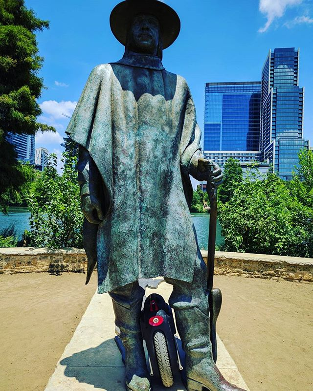 Stevie Ray Vaughan sporting the #electricunicycle #gotway