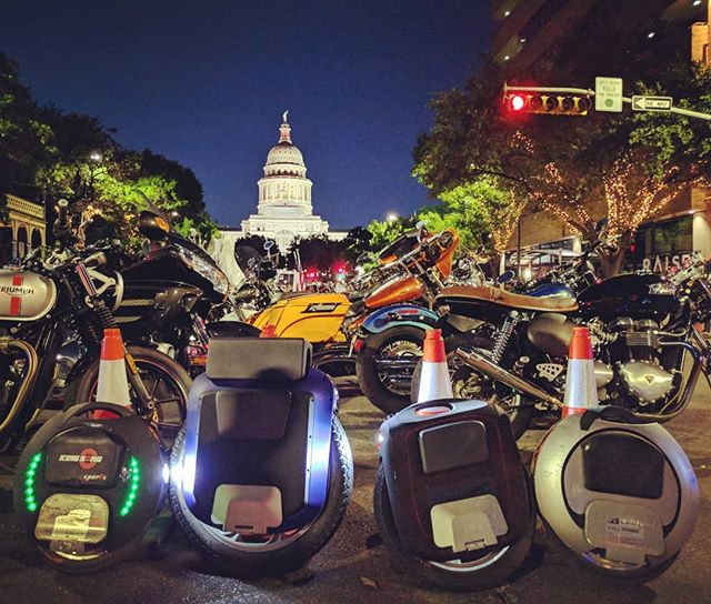 Had an awesome time riding in the ROT rally parade in Downtown Austin! #electricunicycle #kingsong #gotway #rotrally