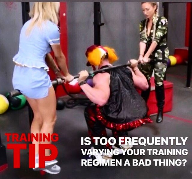 """🙌🏻TRAINING TIP🙌🏻 - Is variability in training a good thing? If you know me by now, you know that the answer is always, """"It depends"""". Let me explain... ✔️Mixing up your training regimen is hugely important. Modifying training variables like reps, sets, exercise order, rest periods, load, tempo, frequency and even exercise choice is what makes a program effective long term. This concept is called """"PERIODIZATION"""" and is an absolute weapon in the hands of any good coach in the field of strength and conditioning. But switching it up too frequently for the sake of """"doing something different"""" is not always a good thing... i see it all the time and it drives me nuts! Let me explain. ✔️Your body needs time to adapt to ANY training stimulus over a period of time. For example.... if you squat today, building up to a heavy set of five, then you will get stronger... BUT ONLY IF YOU PROCEED THIS WITH A SIMILAR STIMULUS NOT TOO LONG AFTER. That is, if you squat heavy again sometime in following 1-7 days, and consistently over the next 3-6 weeks, then you will get stronger. Otherwise, call it a lost opportunity. So if you are ALWAYS doing something different, then you are not maximizing your opportunity to get better at any one thing, and end up losing out on a lot of potential gains. And this is where a lot of """"bootcamps"""" miss the boat...😜 ✔️MY RECOMMENDATION:  1️⃣Make a goal (ex: increase your squat by 10lbs) 2️⃣ Perform that thing (a squat, or whatever it may be) in a way that will get you to your goal anywhere between 1-3 times per week for the next 4 weeks 3️⃣ Make it a little bit more challenging each week (add weight if your goal is strength, reps if your goal is muscular endurance, etc), making sure that your technique doesnt suffer 4️⃣Enjoy your gains!  5️⃣ Change your goal and switch up the stimulus for a month 6️⃣ Go back to your original goal and attempt to build on your previous gains!"""