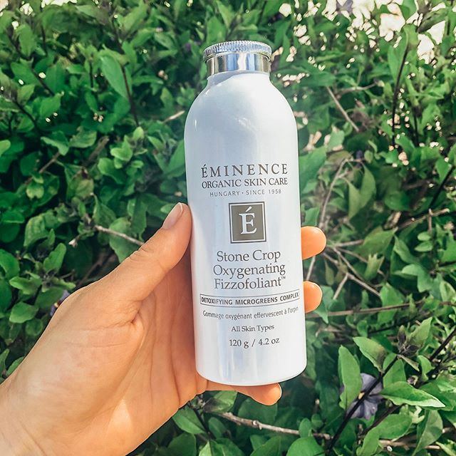 Get your #glow on with the Stone Crop Oxygenating Fizzofoliant🌱 by #eminenceorganics. This powder to foam exfoliant has a slight fizzing action that will aid in removing impurities, invigorating the skin, and will reveal a brighter 🌟 complexion overall. Have you ever tried this before and what do you love about it? . . . . . #exfoliant #skincare #brightness #eminenceorganics #beauty #dailyroutine #sancarloscalifornia #wellness #holistic #natural #stonecrop