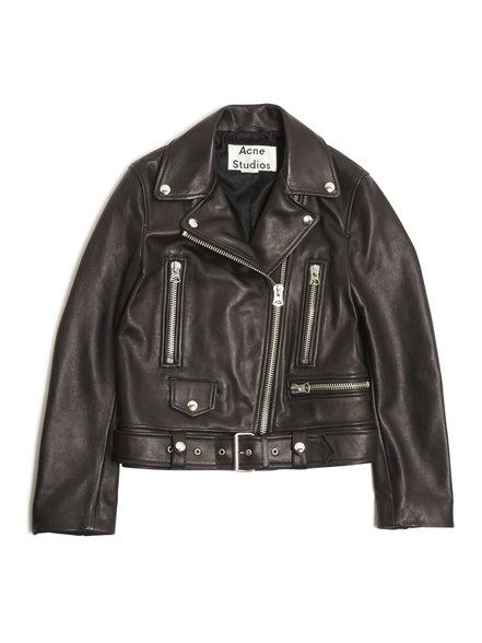 Mock Black Leather Jacket  / Acne Studios $1600