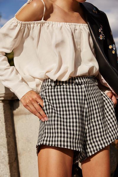 Meesh Gingham Shorts  / Sandy Liang $345