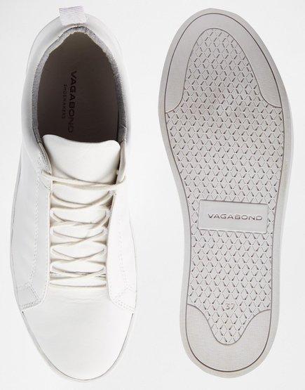 Zoe Leather White Trainers  / Vagabond $127.07