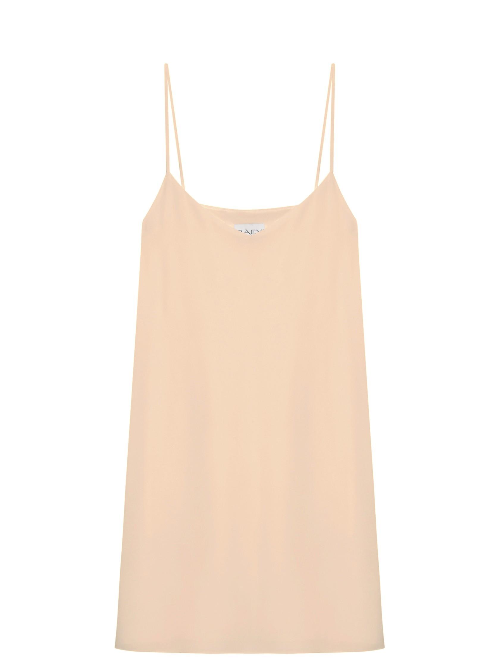 Deep V Silk Slip Dress