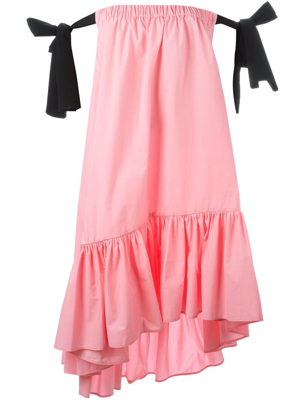 MSGM Off the Shoulder Dress
