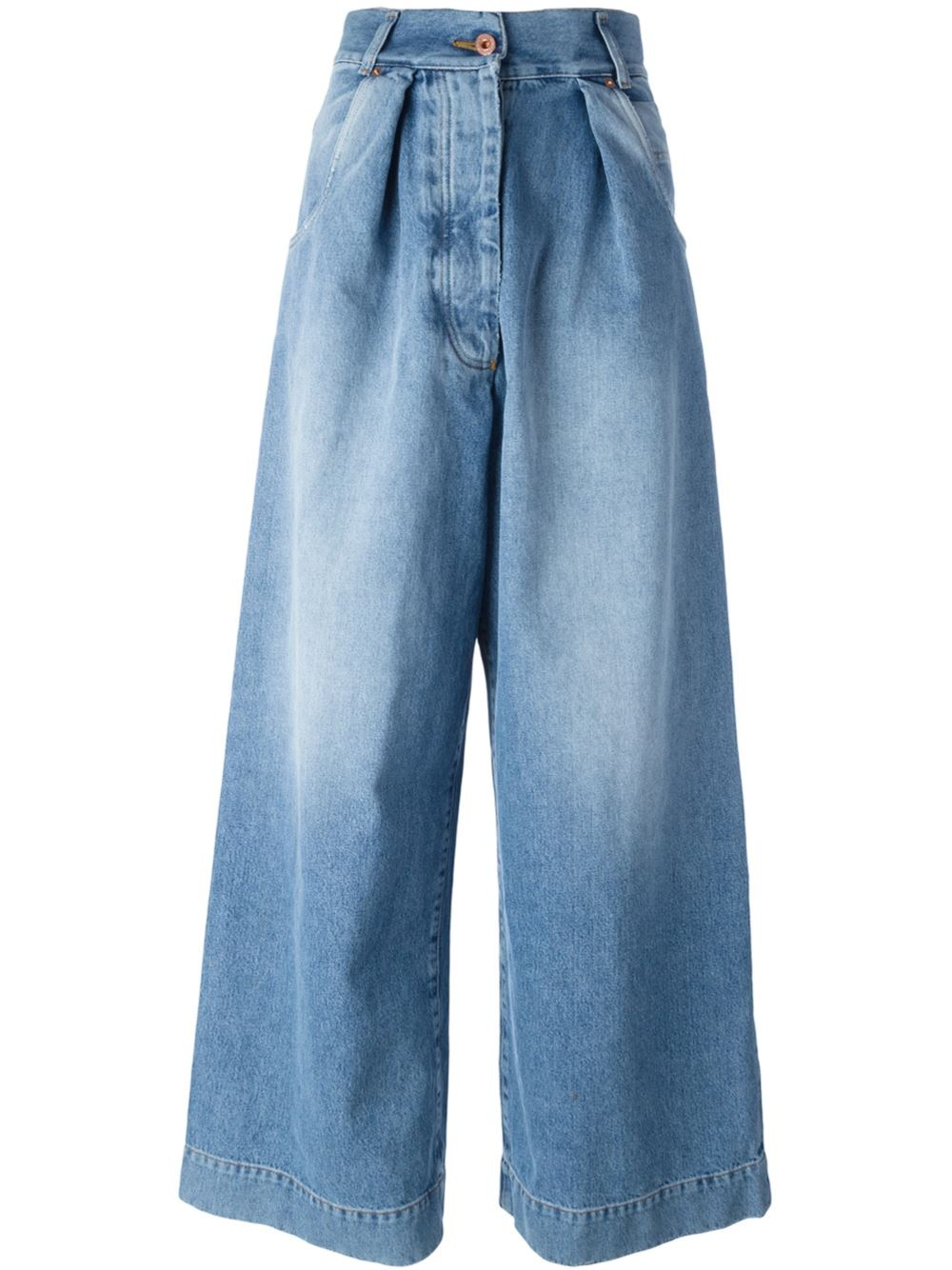 Off-White Pleated Jeans