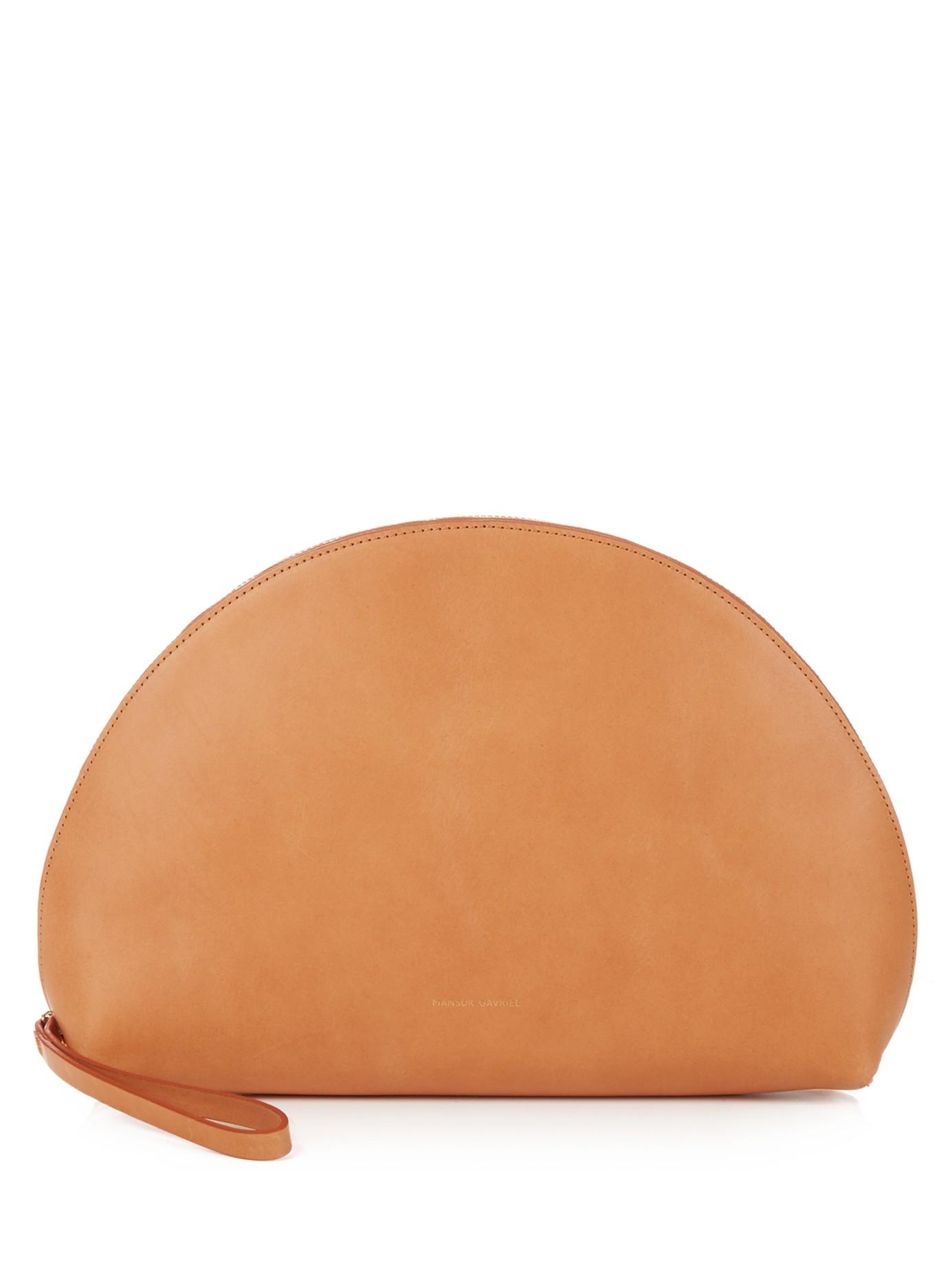 Mansur Gavriel 'Moon Leather Clutch'