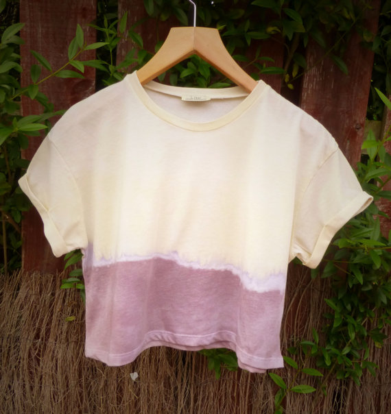 Rainbow Dip Dyed Cropped Tee $21.20