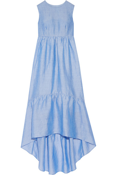 Co / Tiered Ramie-Blend Maxi Dress � DNAMAG.co