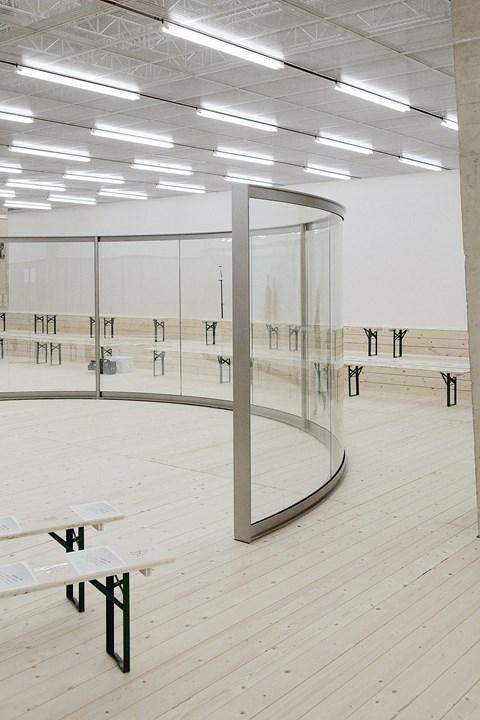 Dan Graham installation for Celine SS17 via DNAMAG