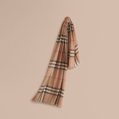 Burberry Check Wool & Silk Scarf by Burberry