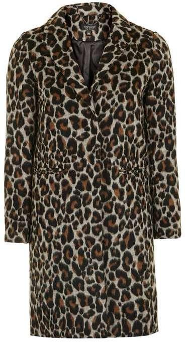 Topshop Leopard Print Coat via DNAMAG