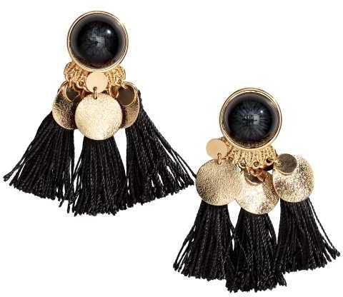 H&M Tasseled Earrings via DNAMAG