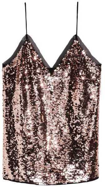 H&M Sequined Camisole