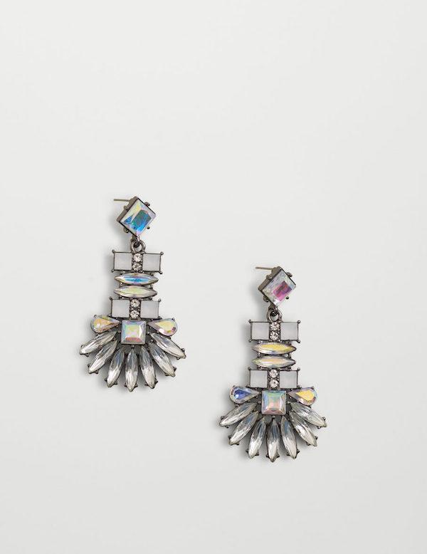 Mango faceted crystal earrings via DNAMAG