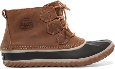 Sorel Out-and-About Waterproof Nubuck Rain Boot