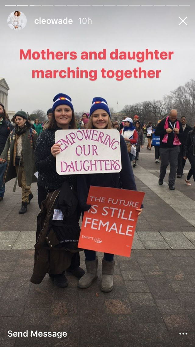 The Women's March in Instagram Stories via DNAMAG